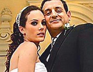 Connie Chaparro en su matrimonio con Sergio Galliani