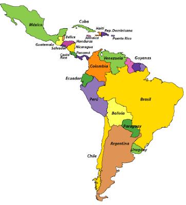 Dibujo Mapa de Latinoamérica