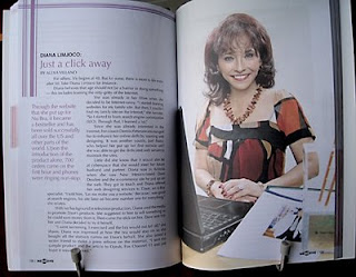 Diana Limjoco's page in Gonegosyo's new book, 55 Inspiring Stories of Women Entrepreneurs.