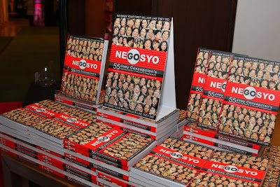 Stacks of the Gonegosyo book at National Book Store, 55 Inspiring Stories of Women Entrepreneurs