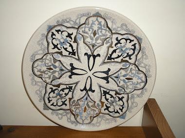 Prato de Porcelana Craquelada