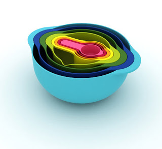 nest 8 bowl set da cucina impilabile giochi home-made per bambini