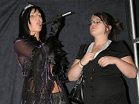 Every Diva needs a fat manager to stand beside.