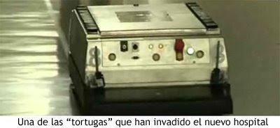 Tortuga robótica guiándose por el hospital