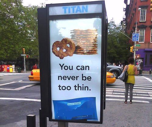 Campaña publicitaria: Nunca podrás ser lo suficientemente delgad@