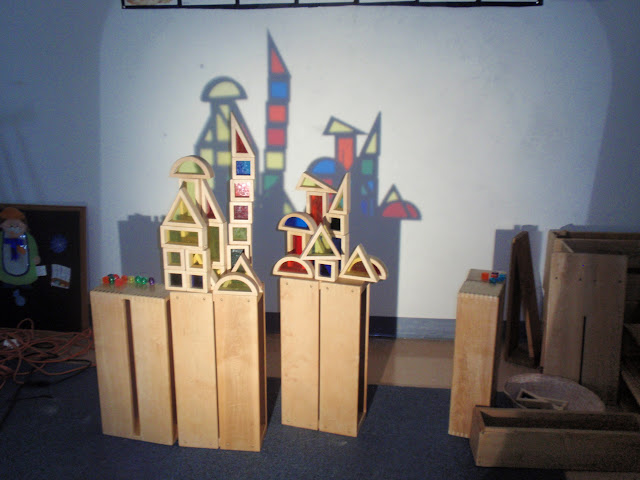 Little preschool on the prairie light and shadow study in for Center block house