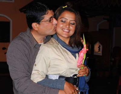Rekha Thapa kissed by her husband
