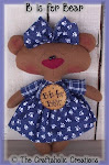 "B is for Bear ~ 11"" doll"