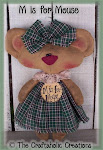 "M is for Mouse ~ 11 1/2"" doll"