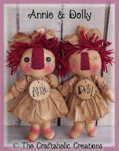 """Annie & Dolly ~ 9 1/2"""" dolls"""