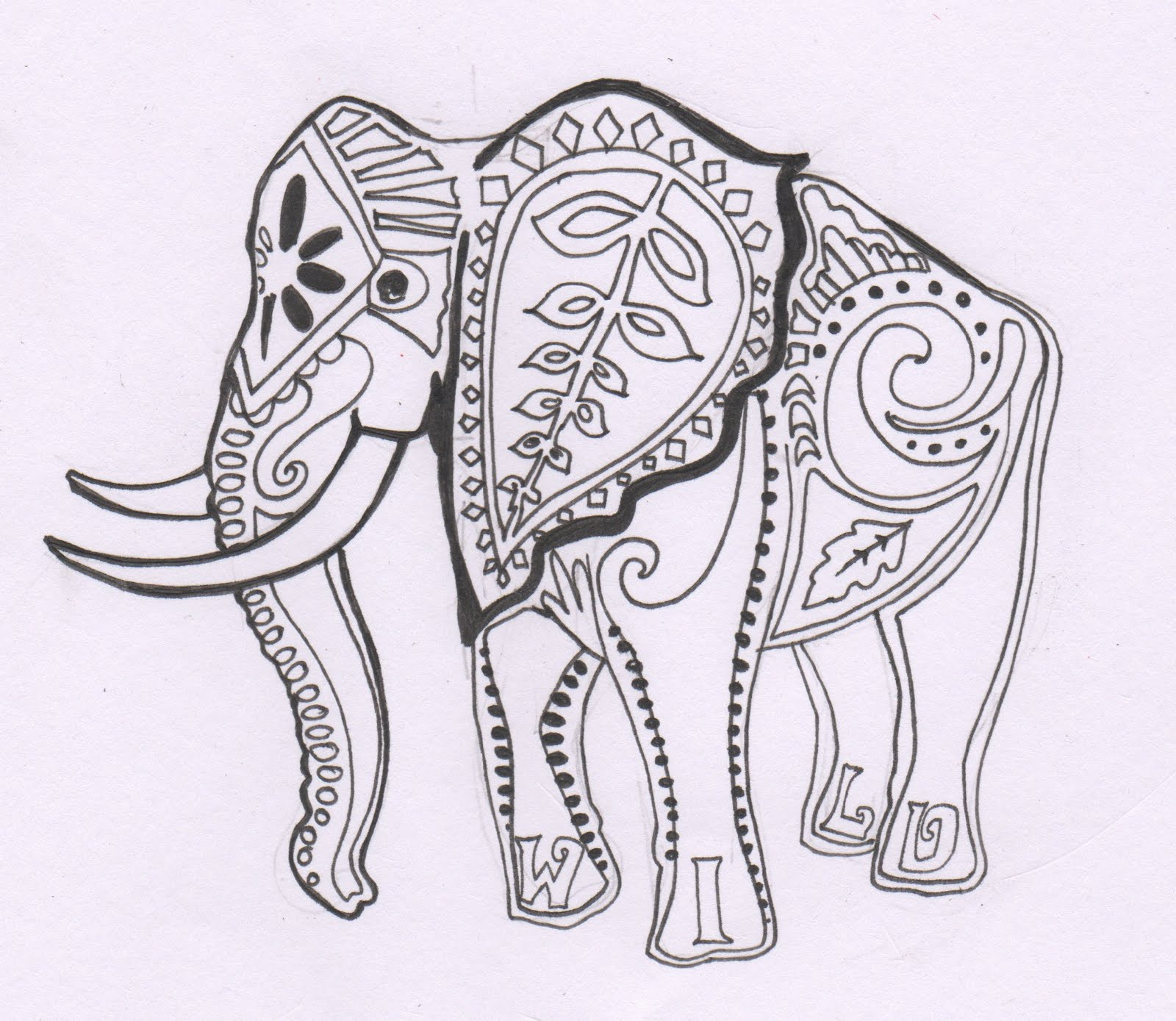 indian designs coloring pages - photo#27
