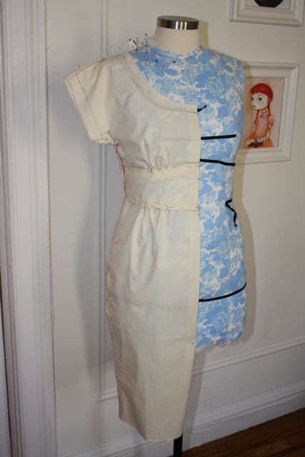 Dress form style tape for draping
