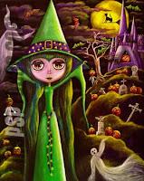 Green Halloween Cards