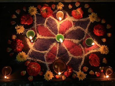 diwali flower decoration cards