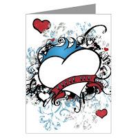 Valentine Temporary Tattoo Cards