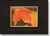 Fallen Leaves Recycled Thanksgiving Card