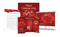 valentines business card templates