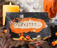 Handmade Halloween Invitations