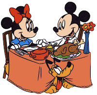 Disney Mickey Minnie Thanksgiving Dinner Cards