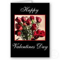 Valentines Day Red Rose Card