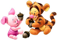 Piglet and Tigger Thanksgiving Wallpaper