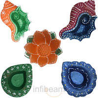 Assorted Colorful Diyas