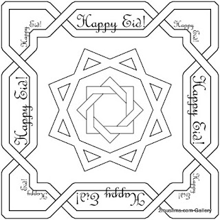 Happy Eid Coloring Sheets