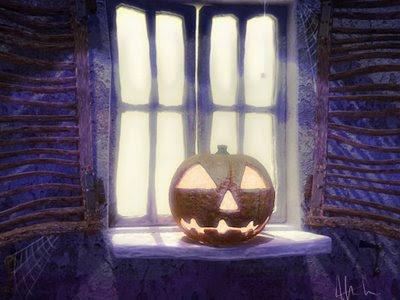 Romantic Halloween Lover's card