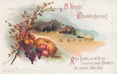 Victorian Thanksgiving Harvest Card