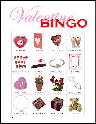 Valentine Bingo Card