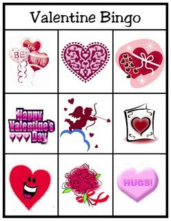 Valentines Bingo Game Fun