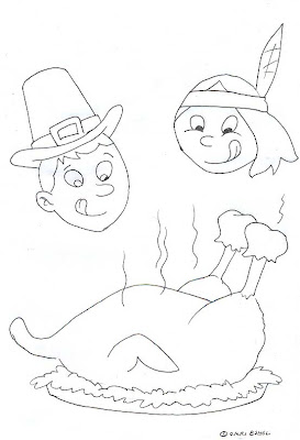 Thanksgiving Coloring Cards
