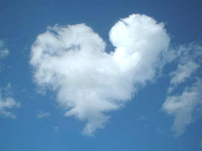 love heart in the sky