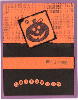 Handmade Halloween Invitation Card