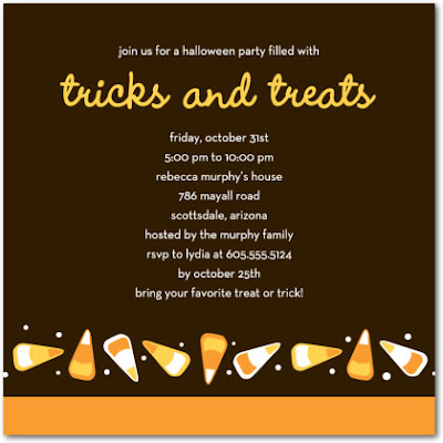 Halloween Ghastly Invitations Cards