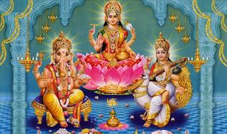 Ganesh Lakshmi Saraswati Wallpaper