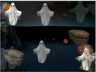 Animated Halloween Ghosts