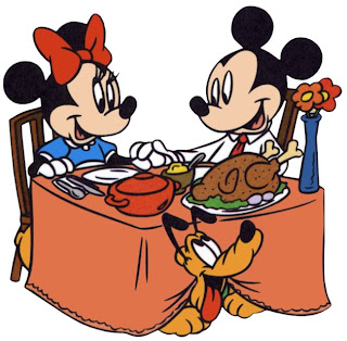 Mickey Minnie Thanksgiving Dinner Wallpaper