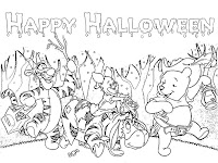 Winnie The Pooh Halloween Coloring Pictures