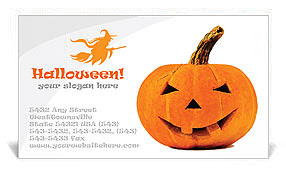 Halloween Pumpkin Business Cards