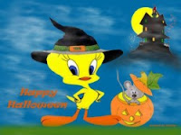 Free Tweety Halloween Wallpaper