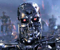 scary terminator robot wallpaper