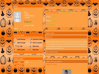 orange color card theme