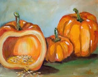 orange halloween pumpkin cards