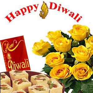 Floral Diwali Cards