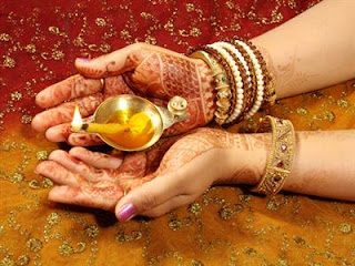 religious diwali diya in hand