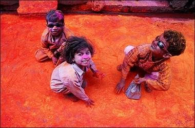 Kids Holi Celebrations