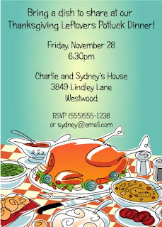 Thanksgiving Party Cards