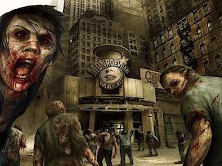 dark halloween zombie