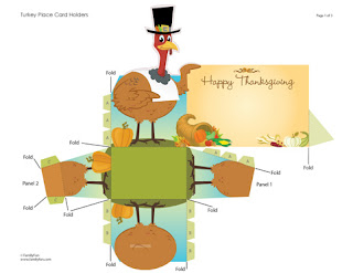 Turkey Themed Thanksgiving Cards